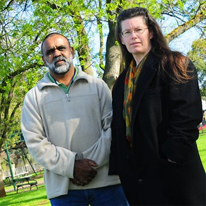 Karno Walker with researcher Kelly Henderson (Advertiser)