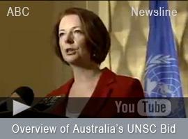 Outline of Australia's case for UN Security Council bid