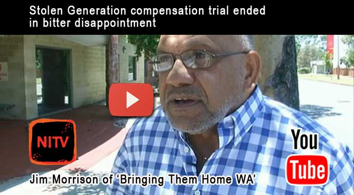 Jim Morrison, the co-convenor of Bringing Them Home WA, reacts to Stolen Generation compensation court ruling
