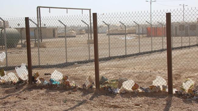 The Za'atari refugee camp in Jordan.
