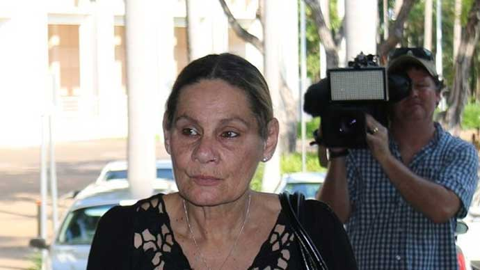 Sandra Kitching says she was chained up when she tried to intervene in the abuse of a girl at Darwin's Retta Dixon home.