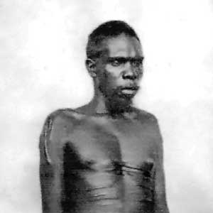The Woolwonga, such as this man identified only as Long Peter, were considered exterminated by the end of the 19th century.