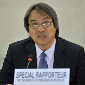 James Anaya, the UN special rapporteur