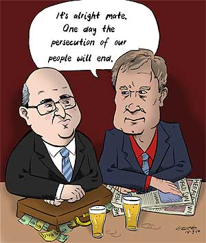 George Brandis and Andrew Bolt