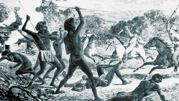 Caption: 'Australian Aborigines - War'