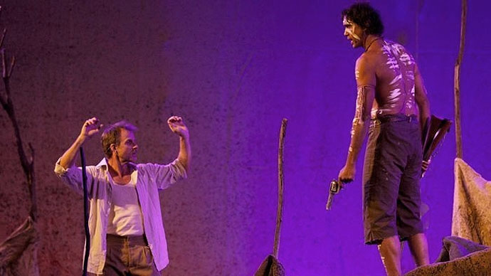 Scene from Jandamarra, a play about an Aboriginal freedom fighter from Western Australia's Kimberley region.<br>(Image: ABC)