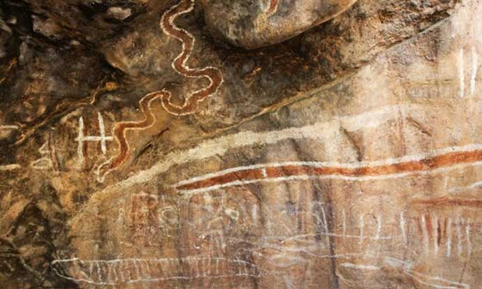 Paintings in Chillagoe-Mungana Caves national park