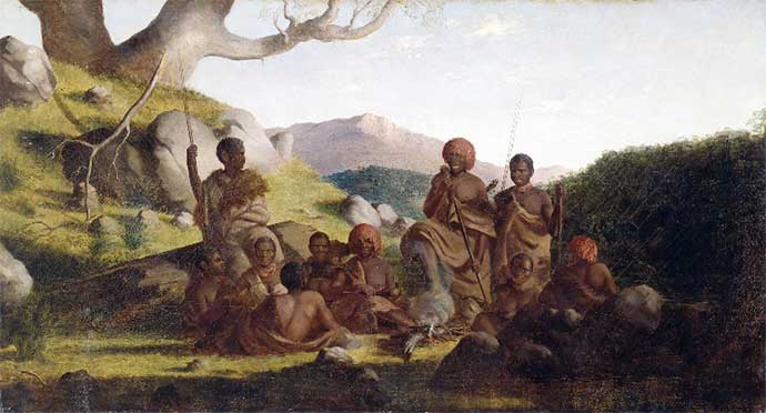 Tasmanian Aboriginals 1856-1857 by Robert Dowling