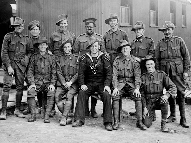 Group portrait of members of the 66th Training Battalion with Private Alfred Jackson Coombs