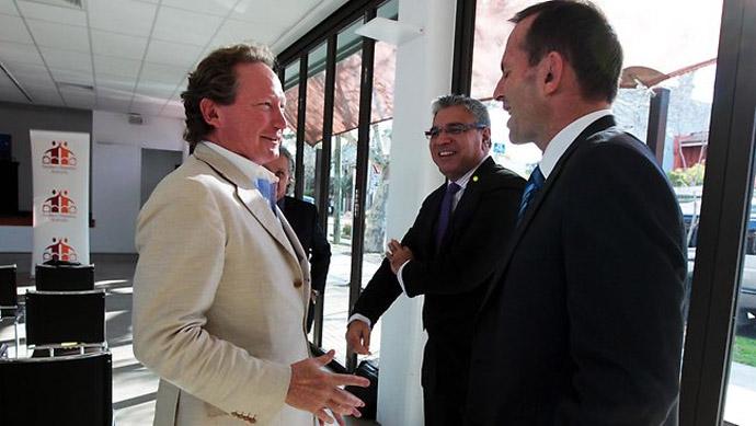 Andrew 'Twiggy' Forrest - Mining Magnate, Warren Mundine - Aboriginal Advisor, Tony Abbott - Former Prime Minister
