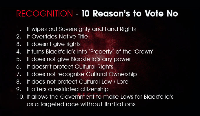 10 Reasons to Vote NO on Constitutional Recognition