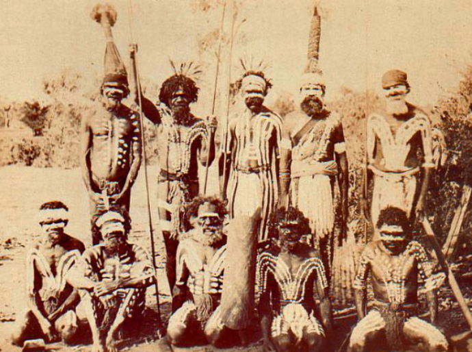 The ceremony is larmidar at Boulia, circa 1900.