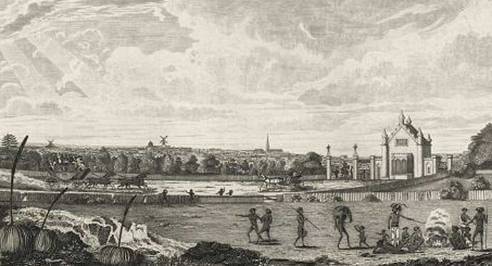 Parramatta Road as a 'made road' was officially opened by the invaders in 1811