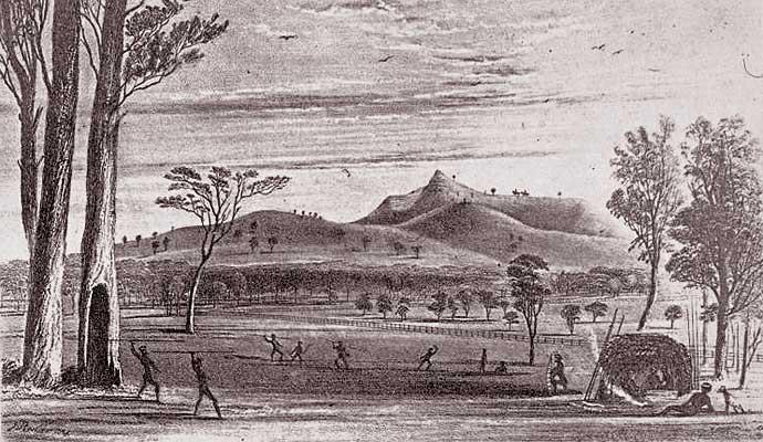 Sketch by William Blandowski (1822–1878) who was based in Melbourne c1840-60