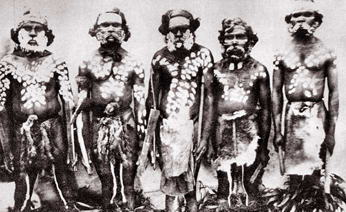 Five members of the Mount Clay Tribe, South Western Victoria