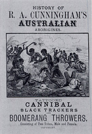 Cover of English edition of pamphlet R A Cunnungham's Australian Aborigines 1814