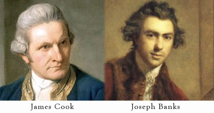 James Cook and Joseph Banks
