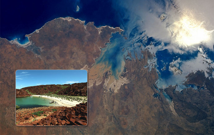 The Dampier Archipelago from spaceNasa