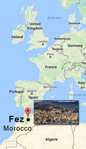 Fez, Morocco Regional Map