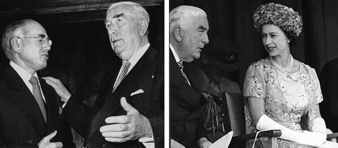 John Howard, Robert Menzies and Queen Elizabeth