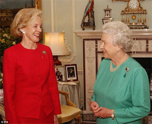 Quentin Bryce, Governor General of Australia with Queen Elizabeth II