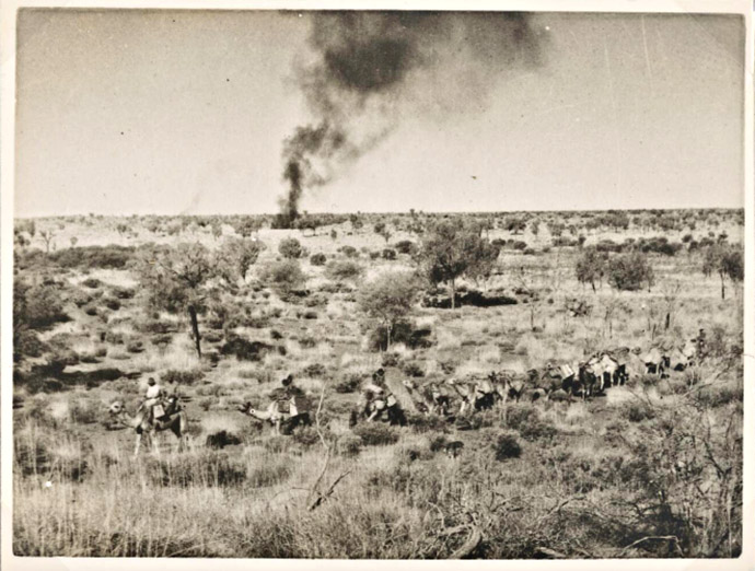 Aboriginal Smoke Signals and camel train