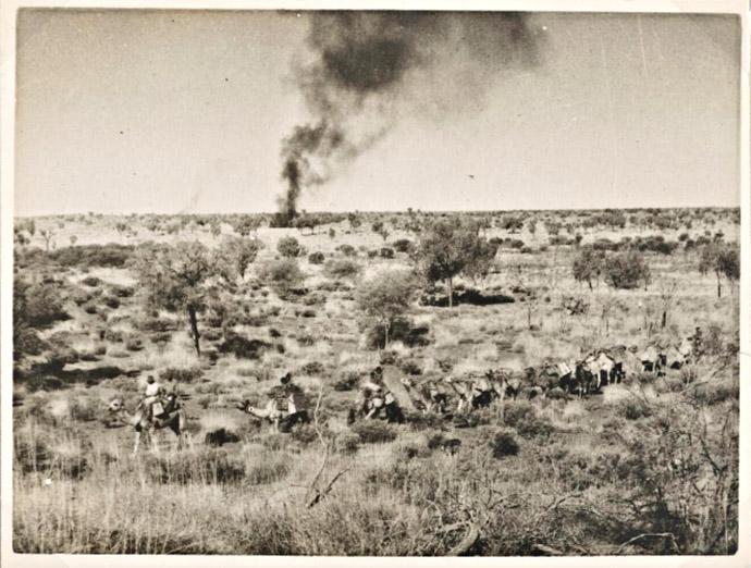 Aboriginal Smoke Signals and camel train