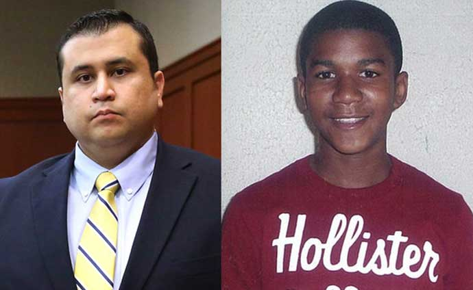 George Zimmerman and murdered Trayvon Martin