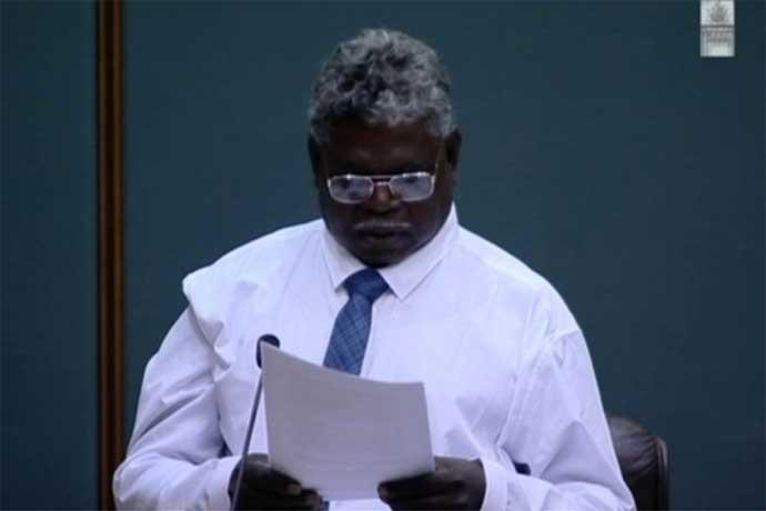 Independent Member of Nhulunbuy, Yingiya Mark Guyula, reading his maiden speech. Northern Territory Government 2016
