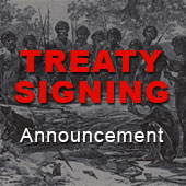 Treaty signing between First Nations of the northern Murray-Darling Basin