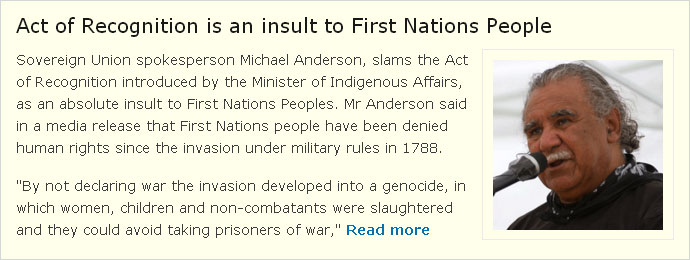 Act of Recognition is an insult to First Nations People