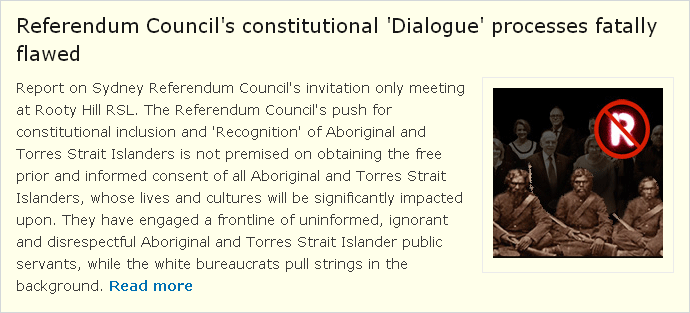 Referendum Council Dialogue Flaws - Attachment 3: