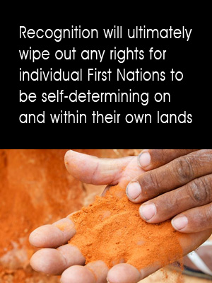 Recognition will end self-determination