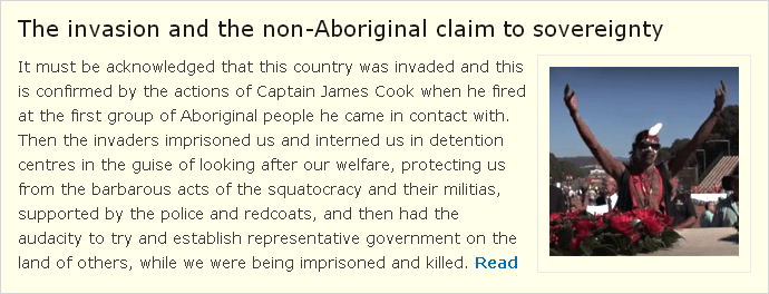 The invasion and the non-Aboriginal claim to sovereignty