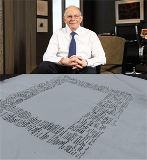 Mark Leibler, Co-Chair of the Referendum Council, and the now infamous signed blank 'Uluru Statement'