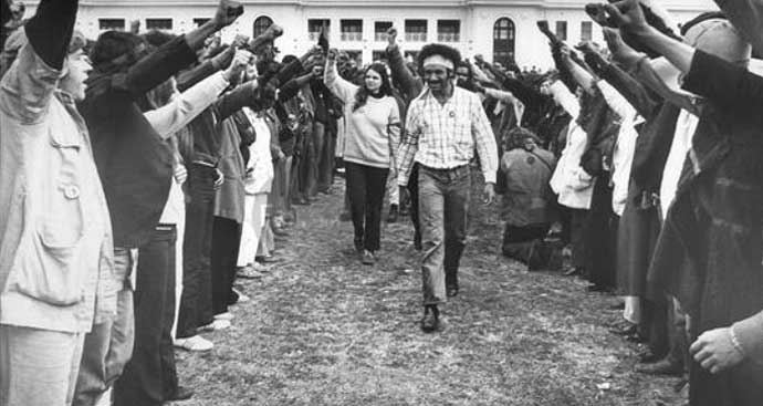 Michael Anderson leads Rally in Canberra - July 1972