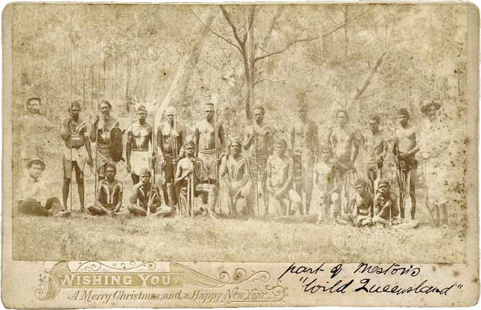 Postcard of Meston's Wild Australia Show' 1892-1893