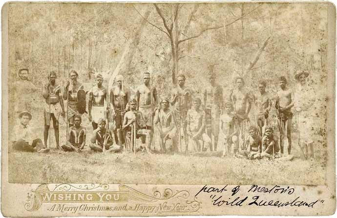 Postcard of Meston's Wild Australia Show' 1892-1893