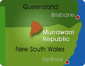 Murrawarri Republic Location Map
