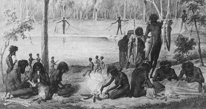 Domestic life of the summer season in the Murray Darling River region preceding 1862