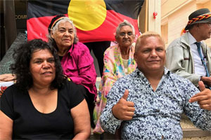 The four applicants who have successfully appealed against the Native Title settlement