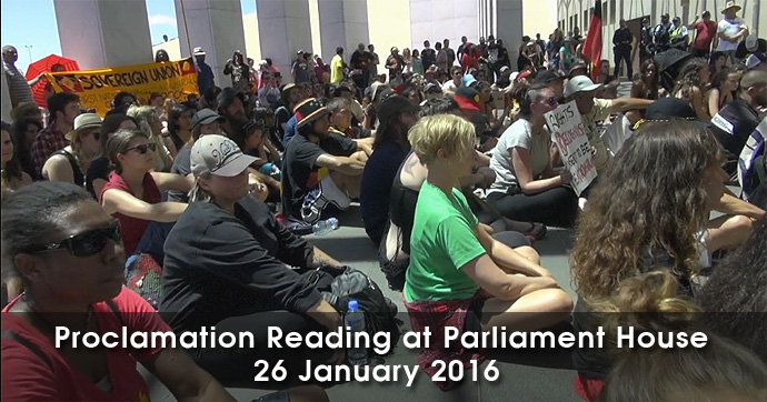 Parliament House - Invasion Day 2016