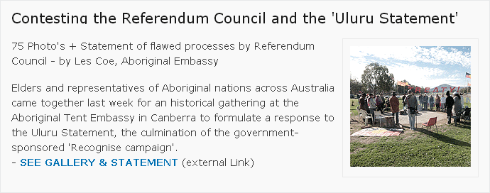 Contesting the Referendum Council and the 'Uluru Statement'