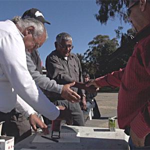 Signing Treaty between Northern Basin Aboriginal Nations