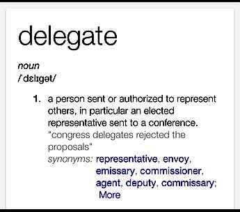 Delegate definition