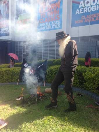 The Australian Constitution in flames outside the Rooty Hill RSL Club - 1