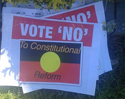 Vote No to Constitution Change Banners