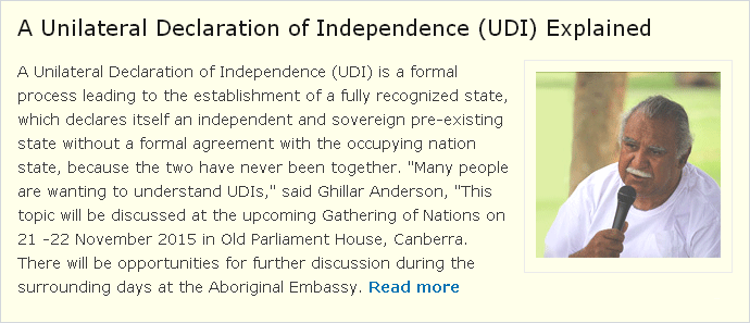 A Unilateral Declaration of Independence (UDI) Explained