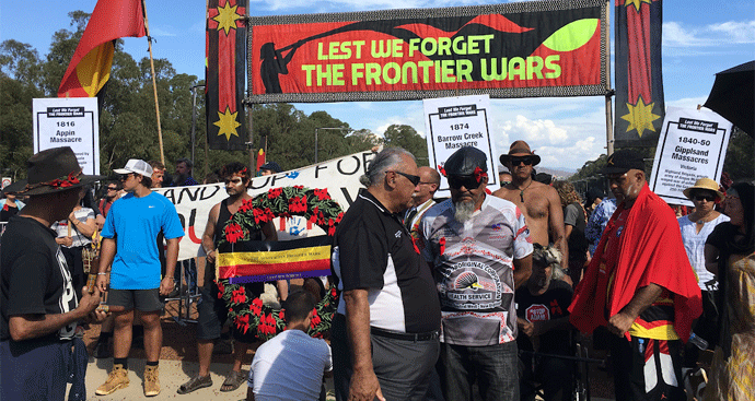Veterans' acceptance of Frontier Wars march - a turning point