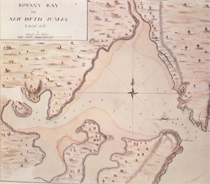 Cook's map of Botony Bay